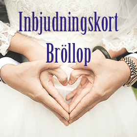 Inbjudningskort till Bröllop