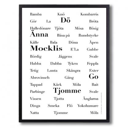 Poster goteborska ord