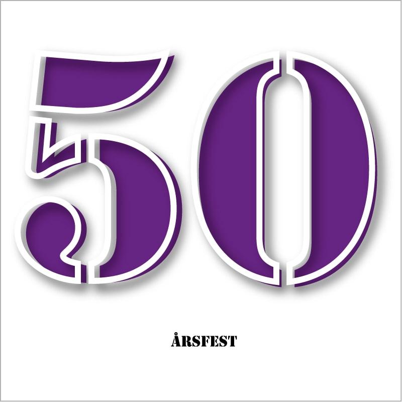 inbjudan till 50 års fest Inbjudningskort 50 års fest mall 2 inbjudan till 50 års fest