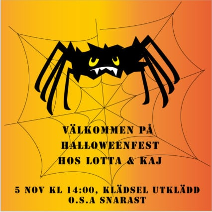 Inbjudningskort till halloween