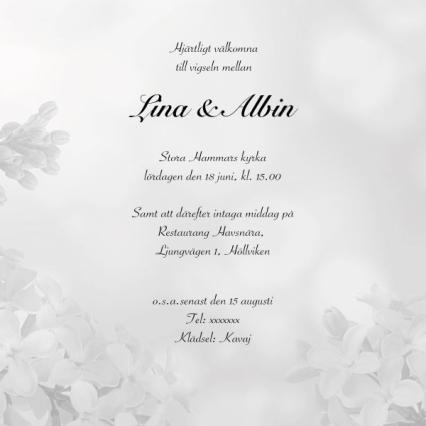 Bröllopsinbjudningar mall Inbjudningskort till Bröllop Mall Softflower square
