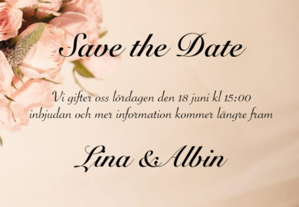 Save the date kort bröllop