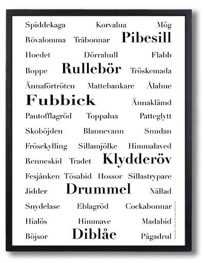 Poster affisch skanska ord